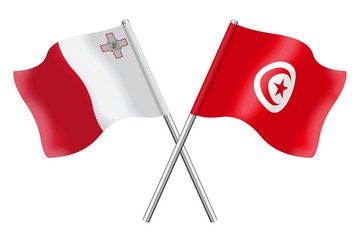 Flags : Malta and Tunisia