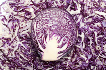 White and Red  Cabbage