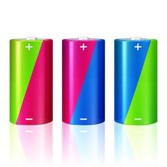 drei Mono-Batterien