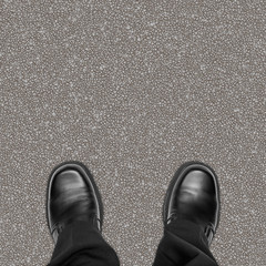 Feet on Road