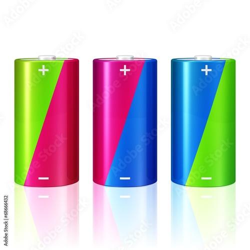 canvas print picture drei Mono-Batterien