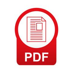Etiqueta tipo app roja redonda PDF