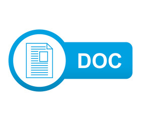 Etiqueta tipo app azul alargada DOC