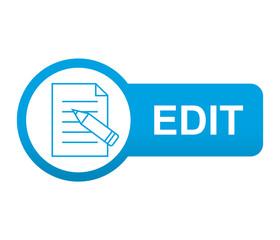 Etiqueta tipo app azul alargada EDIT