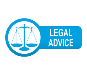 Etiqueta tipo app azul alargada LEGAL ADVICE