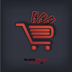 Black Friday sales vector illustration
