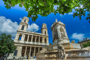 Church of Saint Sulpice in Paris, France