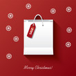 Christmas shopping vector illustration