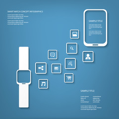 Smart watch concept vector illustration infographics