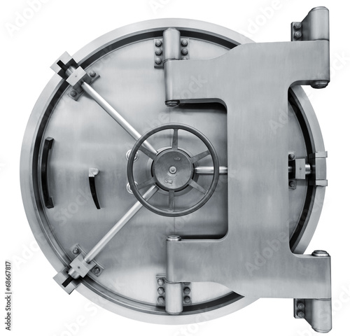 Bank vault door isolated on white with clipping path - 68667817