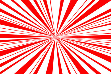 Red and white burst background