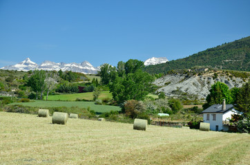 Spanish farm in the foothills
