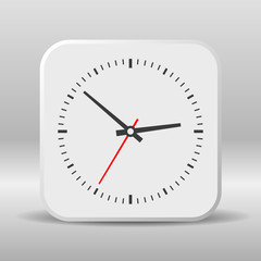 Clock icon on a white background.