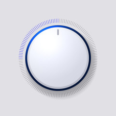 Volume Control Dial White Button