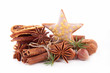 canvas print picture - anise,cinnamon and ingredients
