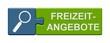 canvas print picture - Puzzle-Button blau grün: Freizeitangebote