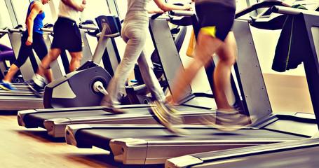 gym shot - running machines