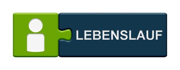 Puzzle-Button grün blau: Lebenslauf