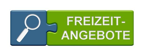 Puzzle-Button blau grün: Freizeitangebote