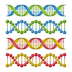 DNA Molecules Set for Science and Medicine Design.