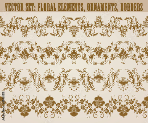 Horizontal elements decoration vector