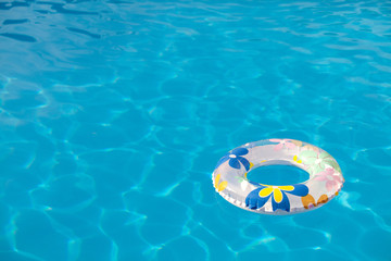 Background buoy in the pool