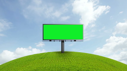 Billboard With Green Screen