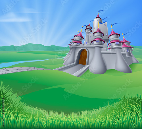 Castle Landscape Illustration