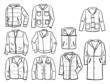Contours of men's jackets
