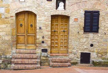 lovely tuscan doors, San Gimignano, Italy