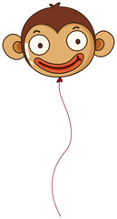 A monkey balloon