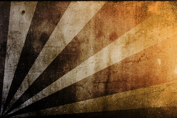 vintage abstract sun rays on the wall grunge