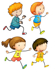Simple kids running