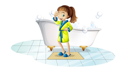 Girl and bathtub