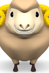 Smile Brown Sheep