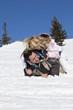 Paar im Schnee, über Narren