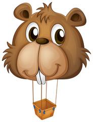 A big brown beaver balloon