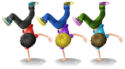 Boys Up side down