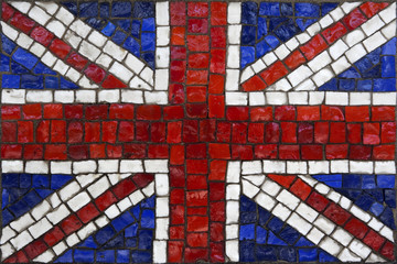 Mosaic flag of great britain or united kingdom