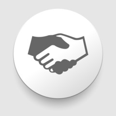 Handshake vector icon - business concept