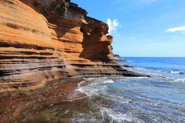 Tenerife landscape - coastal rocks