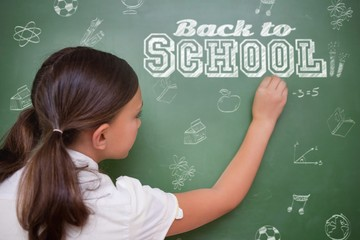 Composite image of back to school message