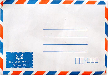 airmail envelope isolate on white