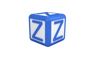 Z blue and white block