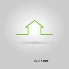 Vector eco house. Abstract.