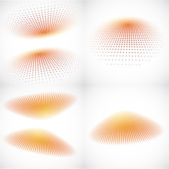 3d Halftone Backgrounds