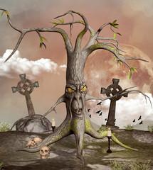 Spooky fantasy tree