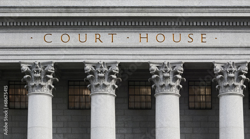 inscription on the courthouse - 68675415
