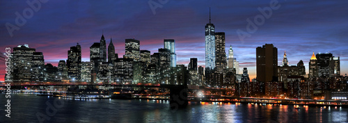 New York City at night - 68675663
