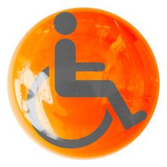 bouton fauteuil roulant